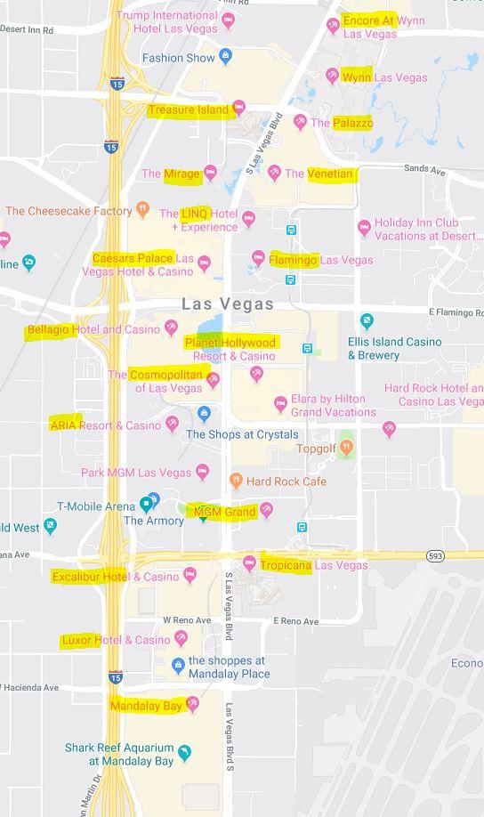Alle 104 Casinos In Las Vegas Am Strip Und In Downtown
