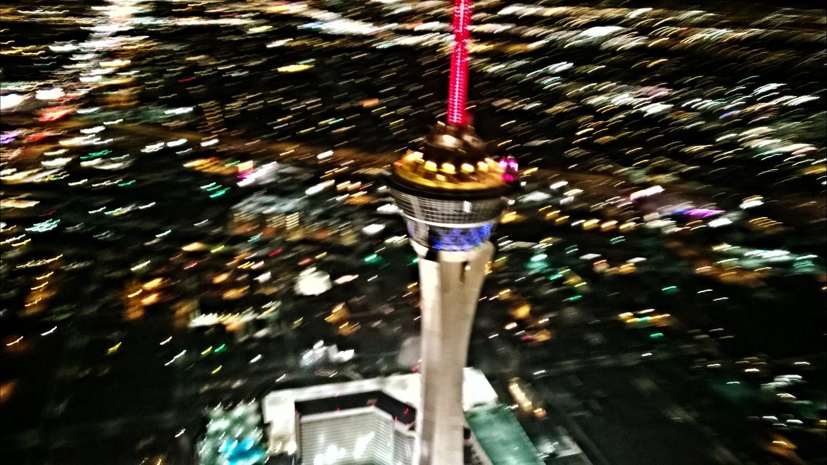 Stratosphere Las Vegas aus dem Helicopter